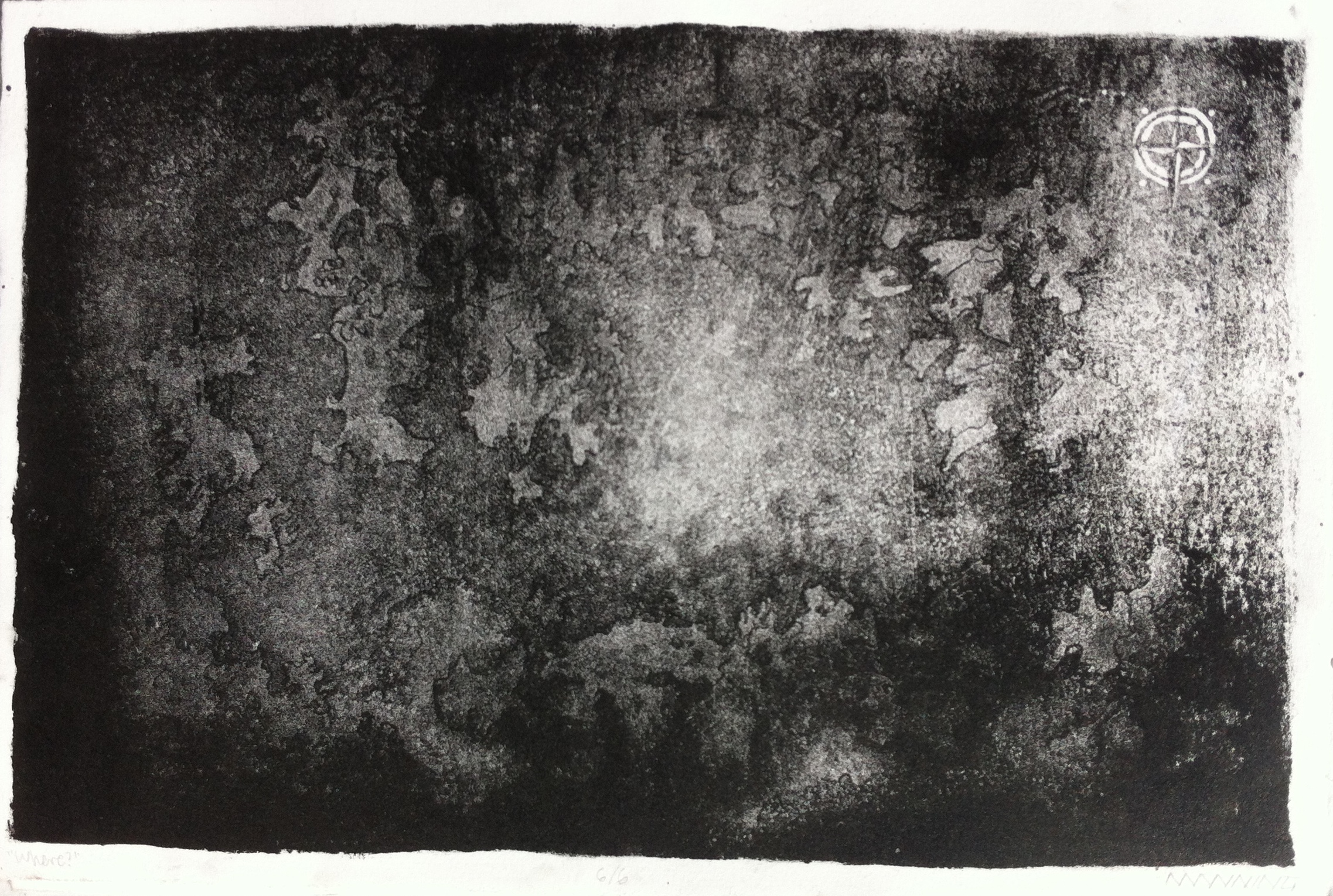 Map to Nowhere, lithograph, 2015